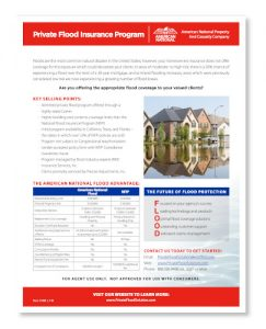 American National Private Flood Insurance Program brochure.