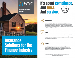 WNC Insurance Services Financial Services Solutions Marketing Brochure.