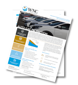 WNC Insurance Services Auto Gap Protection Marketing Sheet.