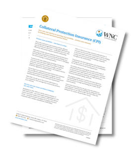 WNC Insurance Services Collateral Protection Insurance Marketing Sheet.