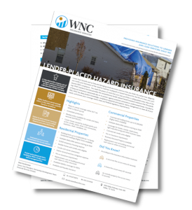 WNC Insurance Services Lender-Placed Hazard Insurance packet.