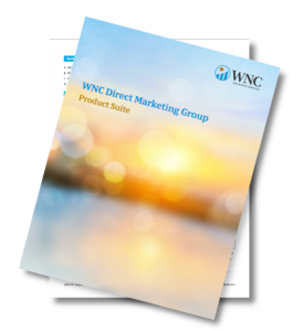 WNC Insurance Services Direct Marketing Group Product Suite packet.