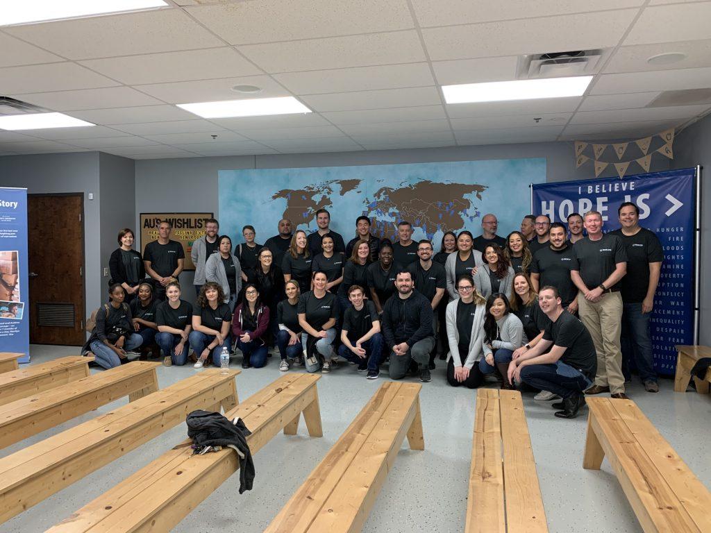 Photo of a team of volunteers.