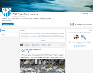 Screen shot of WNC's LinkedIn page.